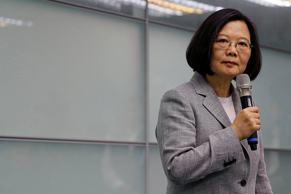 Taiwan President Tsai Ing-wen is due to sign off on the new law in January. — Reuters pic