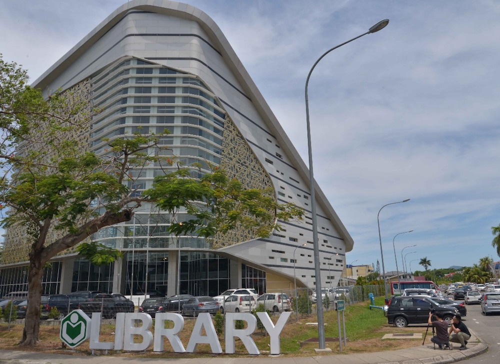 The new Kota Kinabalu Library opened on April 1 in its own building after bidding goodbye to its home of seven years in a shopping mall. — Picture by Julia Chan