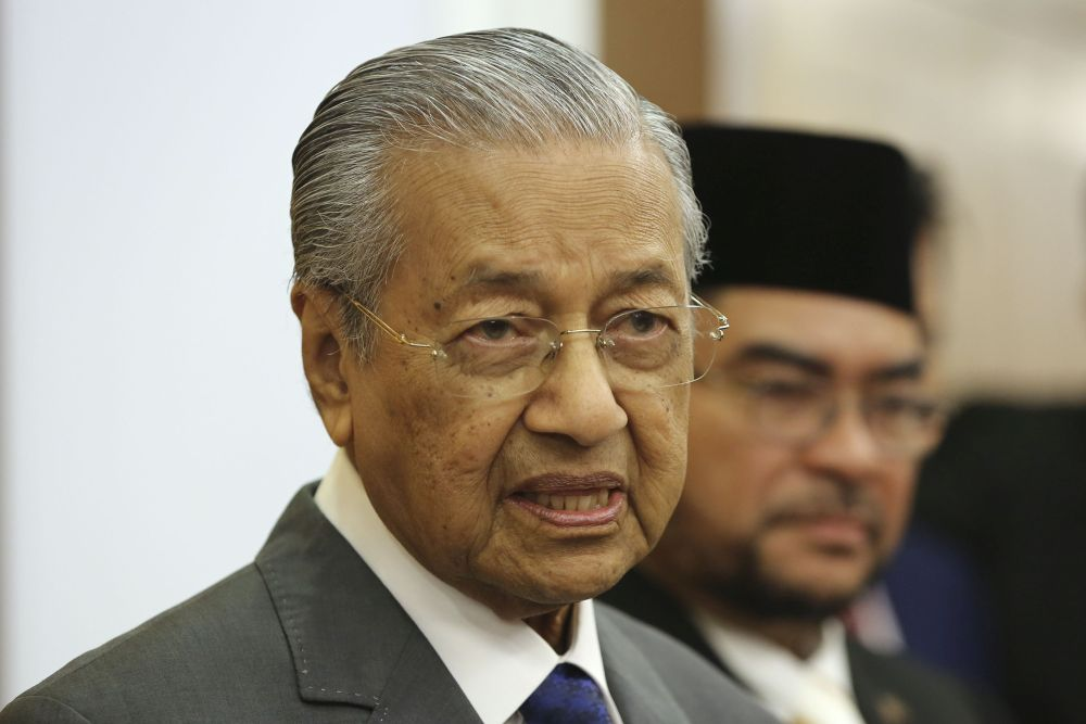 Prime Minister Tun Dr Mahathir Mohamad today expressed his disappointment that people nowadays spend more money and time for research on inventing weapons than other useful needs. — Picture by Yusof Mat Isa