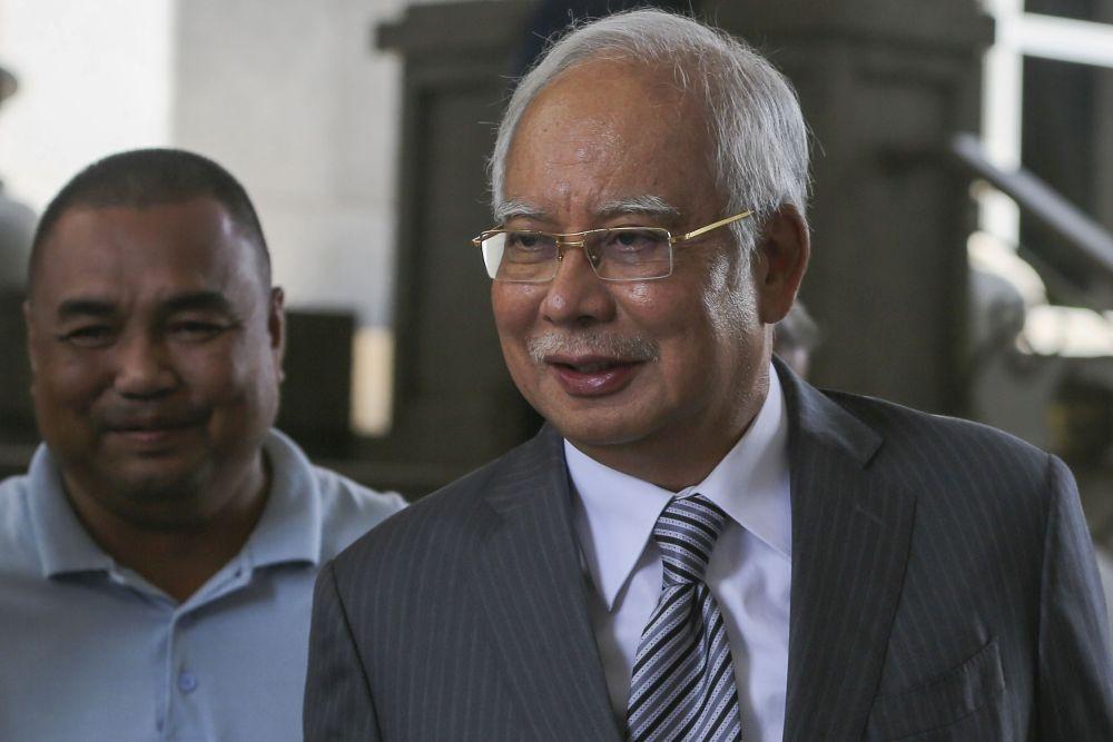 Datuk Seri Najib Razak is pictured at the Federal Court in Putrajaya April 5, 2019. — Picture by Yusof Mat Isa