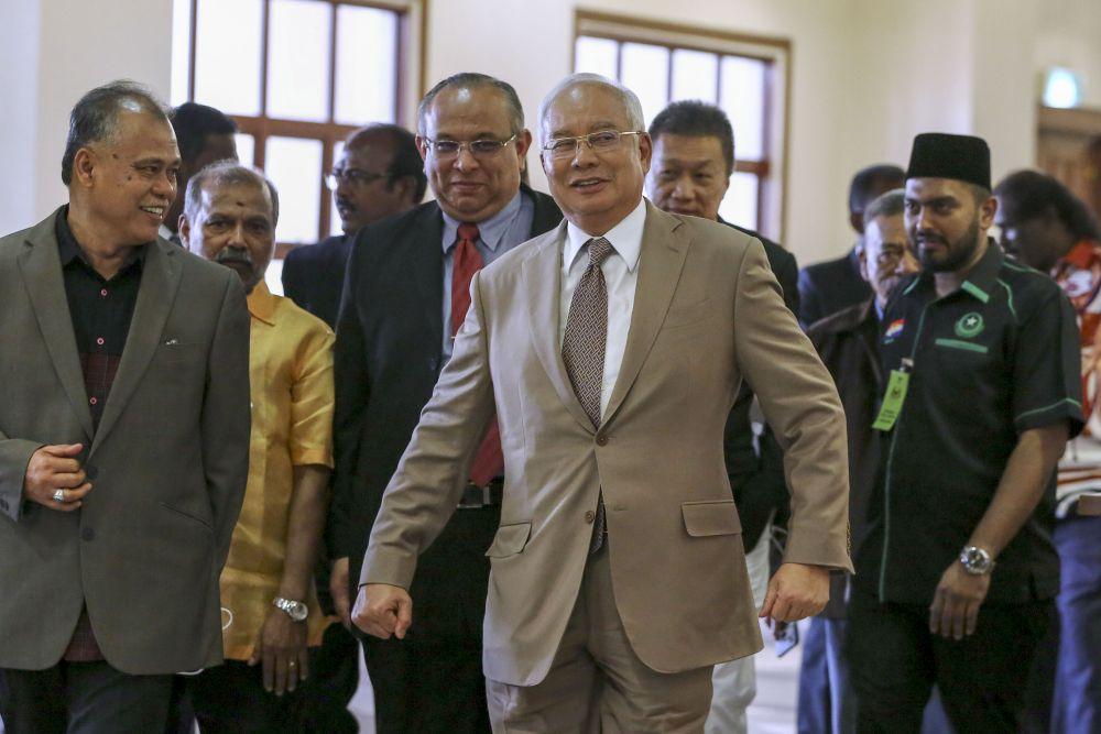 Datuk Seri Najib Tun Razak is pictured at the Kuala Lumpur Court Complex April 24, 2019. — Picture by Yusof Mat Isa