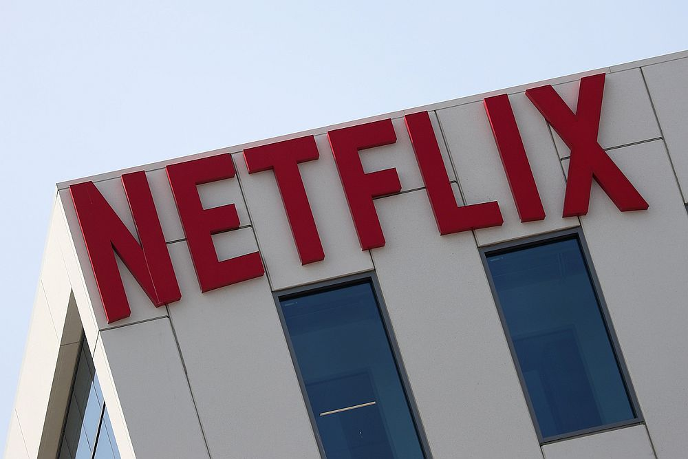 The Netflix logo is seen on their office in Hollywood, Los Angeles. — Reuters pic