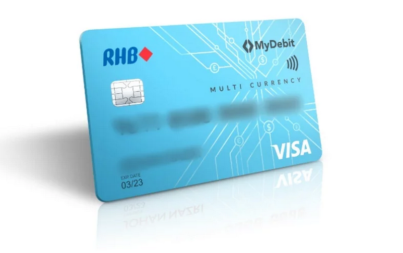 RHB's new debit cards come with zero conversion charge or transaction fees for 13 different currencies. — Picture via RinggitPlus