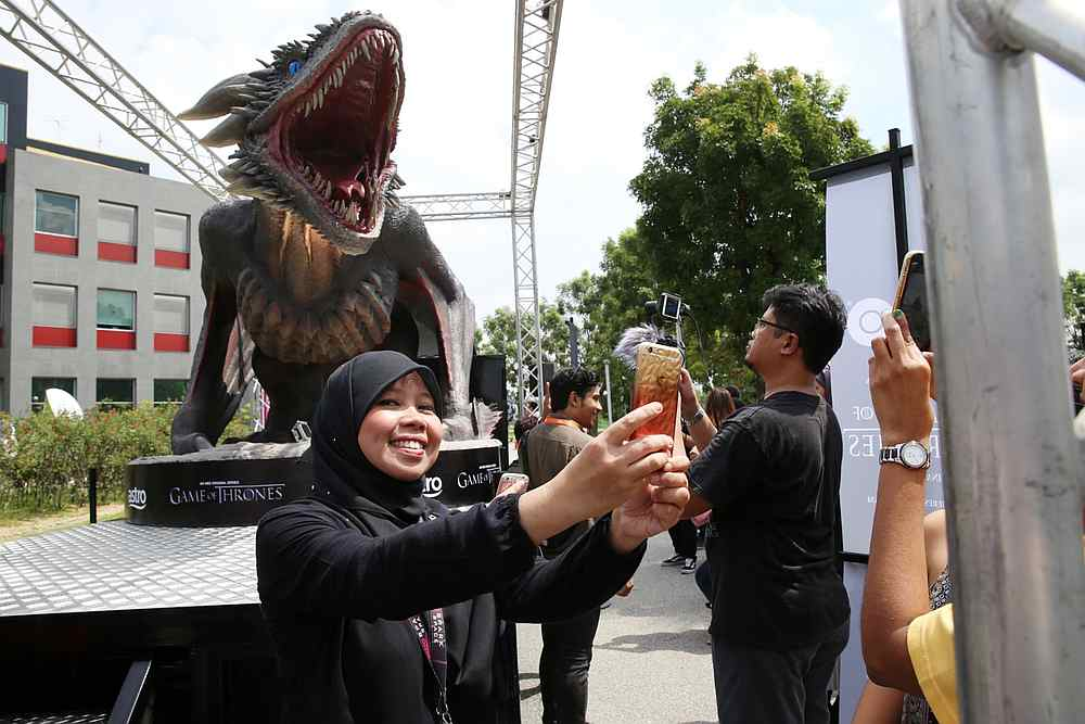 Avid followers of the show can track Viserion down in the Klang Valley in the next 10 days to snap a selfie with him and have a shot at winning exclusive merchandise. — Picture by Choo Choy May