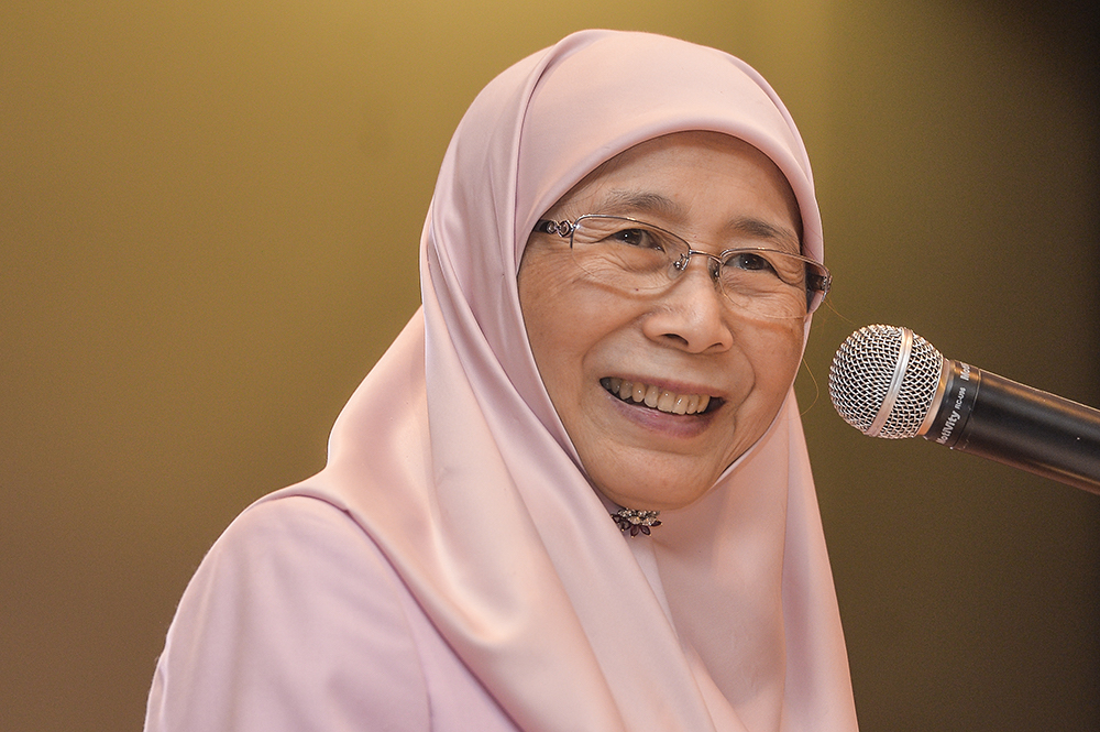 Dr Wan Azizah said the desired Maqasid As-Syariah should be the cornerstone and way forward for Islamic teachings and laws. — Picture by Miera Zulyana