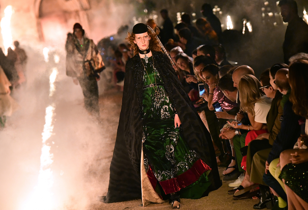 File photo of a model presenting a creation for Gucci during the 2019 Gucci Croisiere (Cruise) fashion show at Alyscamps in Arles May 30, 2018. — AFP pic