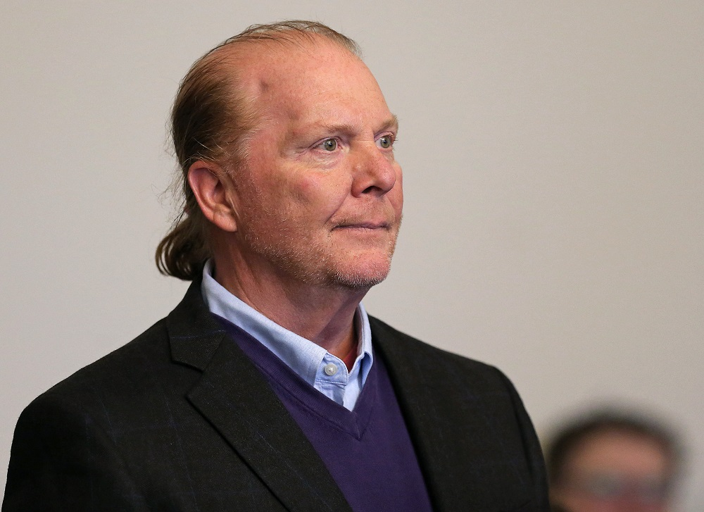 Celebrity chef Mario Batali, 58, is arraigned on a charge of indecent assault and battery at Boston Municpal Court in Boston May 24, 2019. — Reuters pic