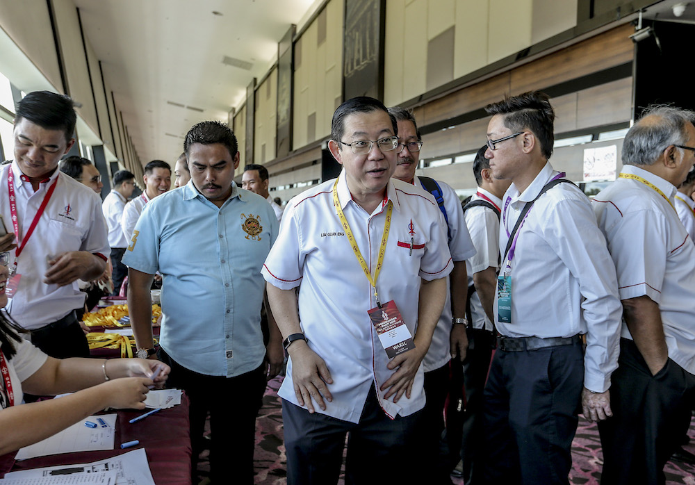 DAP secretary-general Lim Guan Eng attends the 2019 DAP National Conference in Shah Alam May 5, 2019. — Picture by Firdaus Latif