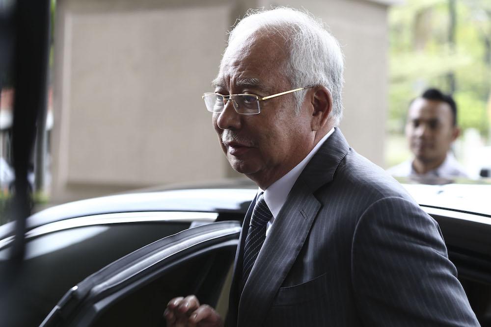 Datuk Seri Najib Razak leaves the Kuala Lumpur Court Complex May 8, 2019. — Picture by Yusof Mat Isa