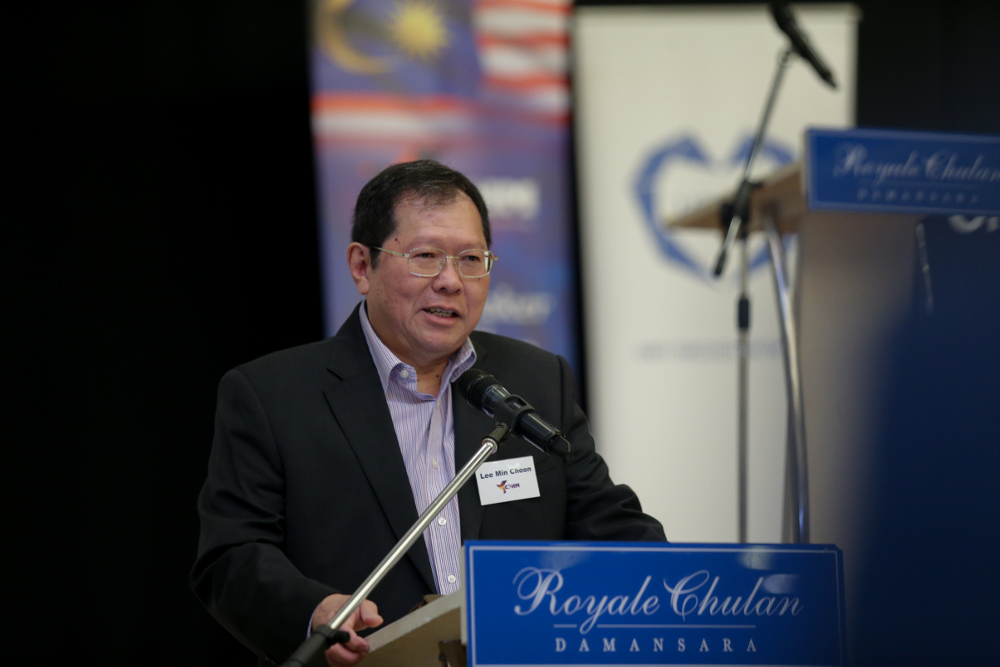 Christians for Peace and Harmony in Malaysia (CPHM) chairman Lee Min Choon speaks before a breaking fast between imams and pastors event in Petaling Jaya May 16, 2019.
