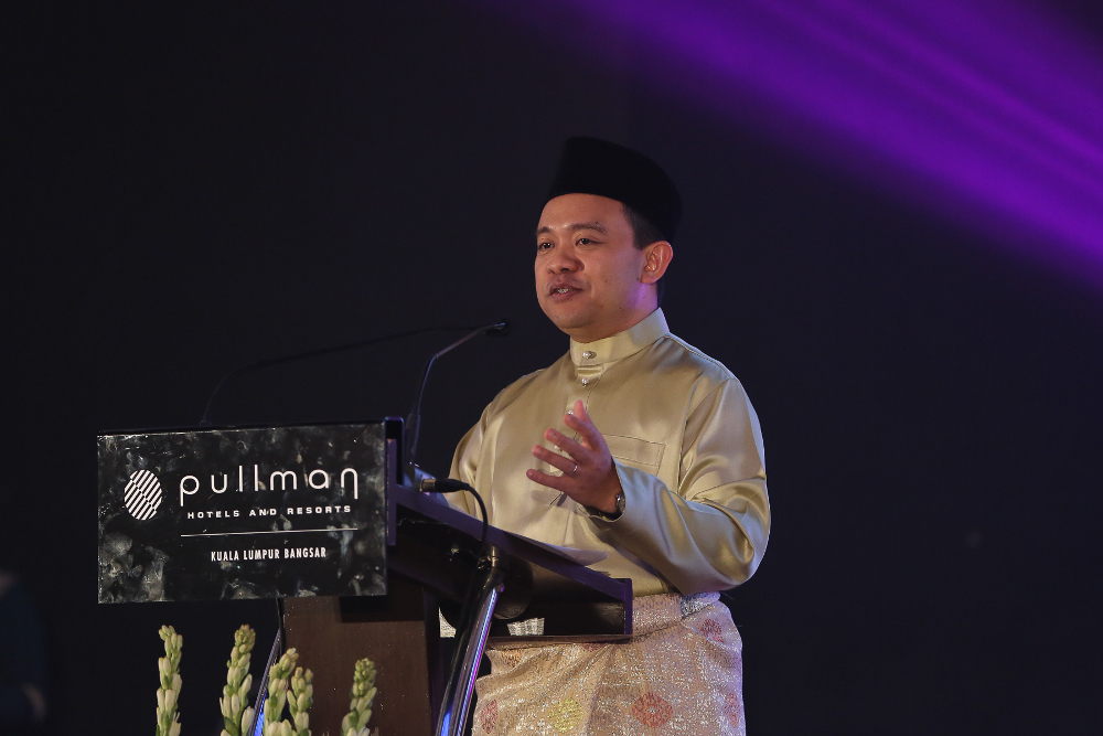 National Higher Education Fund Corporation (PTPTN) chairman Wan Saiful Wan Jan speaks during the PTPTN break fast event in Kuala Lumpur May 30, 2019. — Picture by Yusof Mat Isa