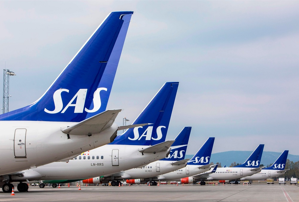 SAS said in today's statement that it expected limited activity during the key summer season and could cut up to 5,000 full-time positions. — AFP pic