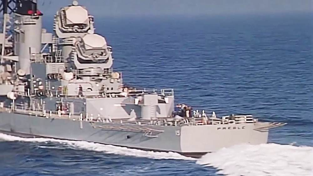Image from the YouTube video 'USS Preble DLG-15 to DDG-46 Redsignation.'