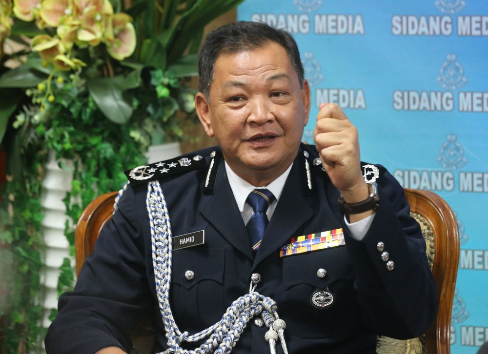 Inspector-General of Police Datuk Seri Abdul Hamid Bador said the police implemented various approaches and actions to curb smuggling activities along the country's borders. — Picture by Firdaus Latif