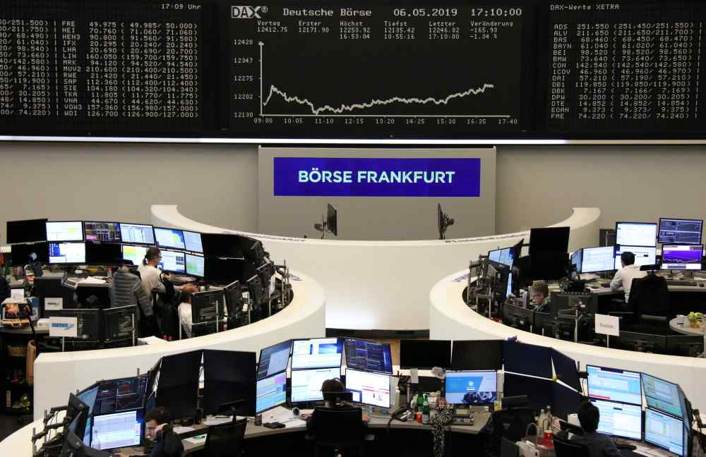 The German share price index DAX graph is pictured at the stock exchange in Frankfurt May 6, 2019. ― Reuters pic