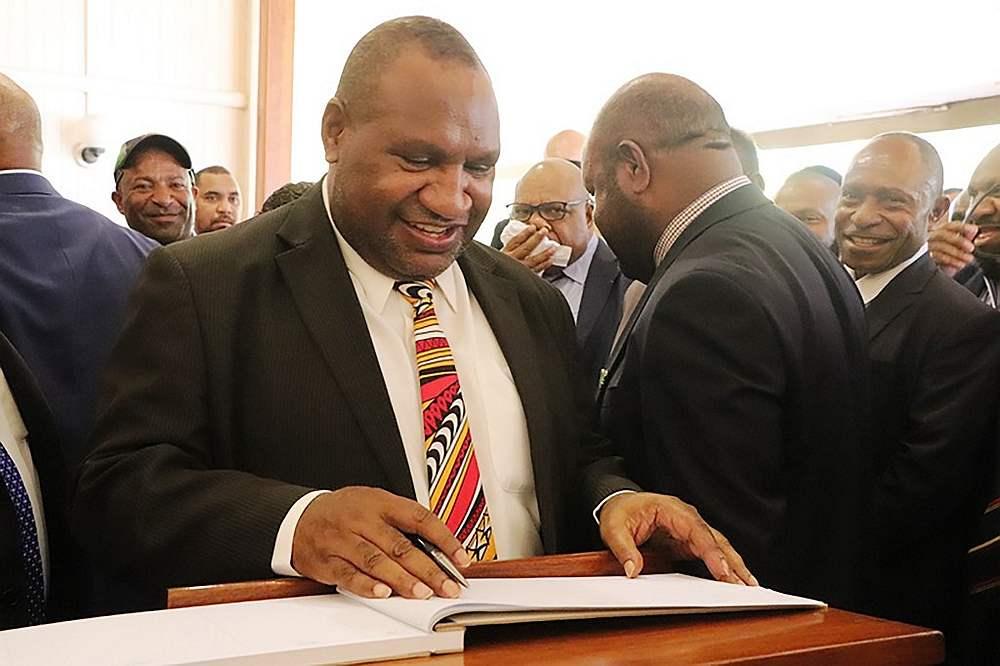 File photo of Papua New Guinea's prime minister James Marape. — AFP pic