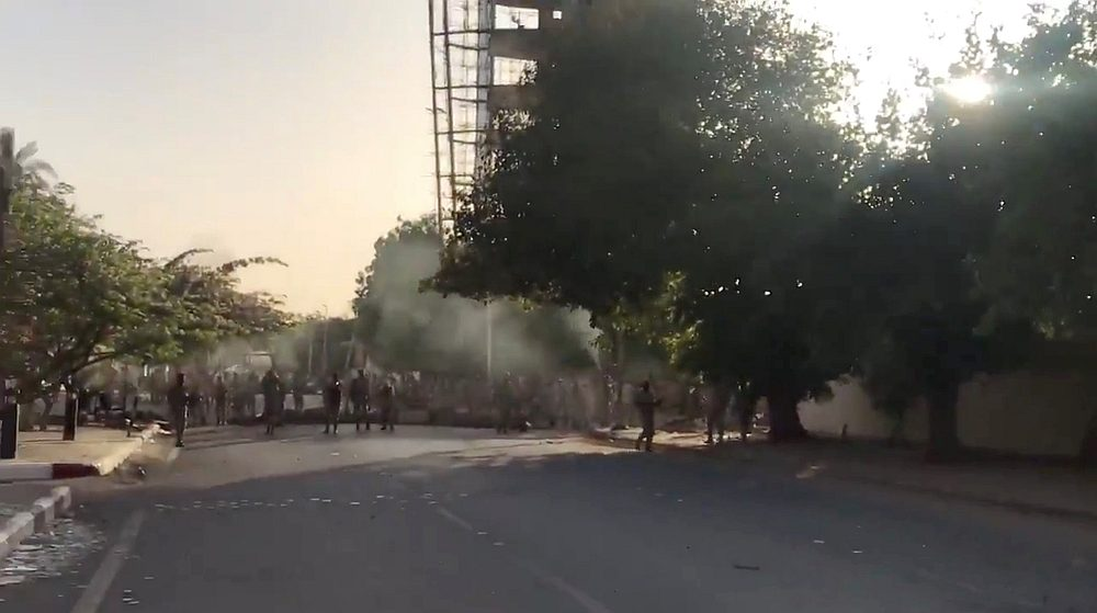 Shots are fired by Sudanese forces during a protest in Khartoum, Sudan May 15, 2019. — Still video image from @AymanMakkawii1/ via Reuters