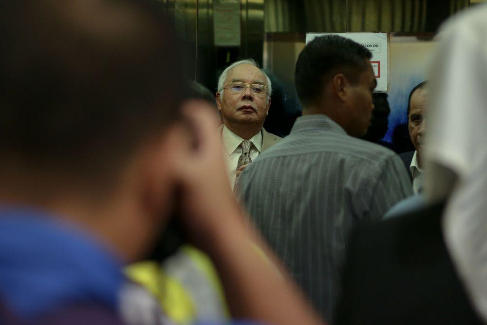 Datuk Seri Najib Razak is pictured at the Kuala Lumpur High Court May 15, 2019. — Picture by Ahmad Zamzahuri