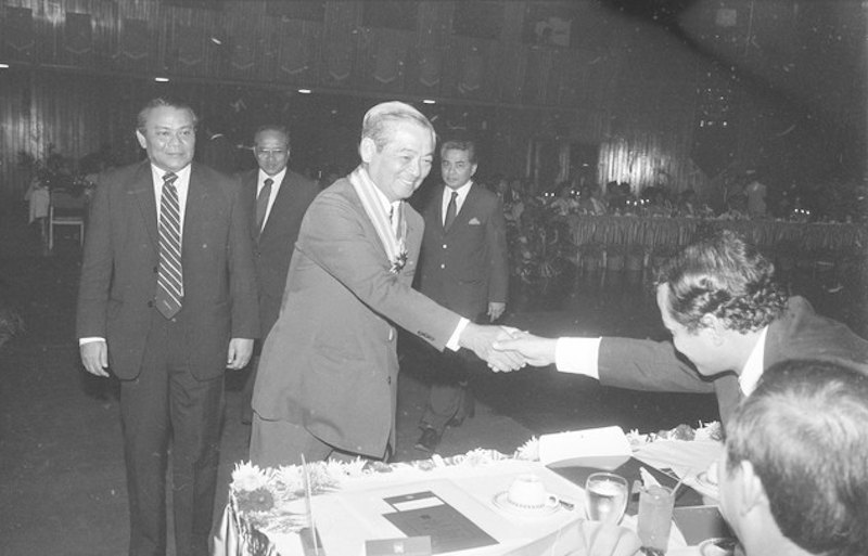 Penang Chief Minister Dr Lim Chong Eu arrives for an event in George Town December 20, 1984. — Bernama pic