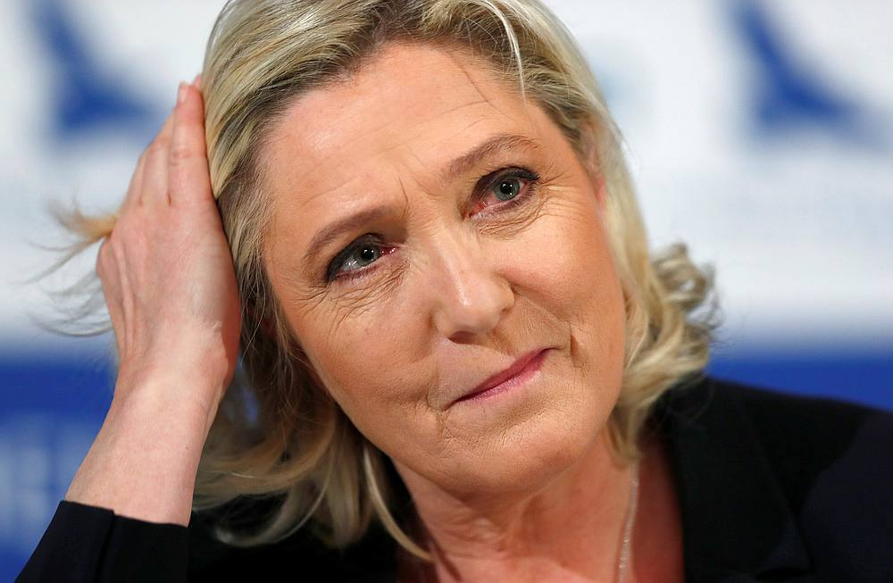 Marine Le Pen, the leader of France's far-right National Rally party, attends a news conference in Tallinn, Estonia May 14, 2019. — Reuters pic