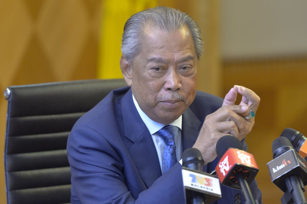 Home Minister Tan Sri Muhyiddin Yassin today said that the government has not received any formal requests to declassify official documents on the May 13, 1969 riots — Picture by Mukhriz Hazim