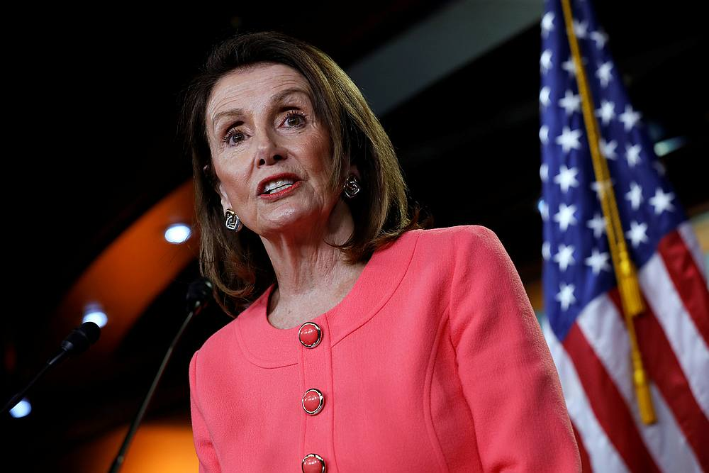 US House Speaker Nancy Pelosi argues the impeachment inquiry she launched is constitutional and that no House vote is necessary at this juncture. — Reuters pic