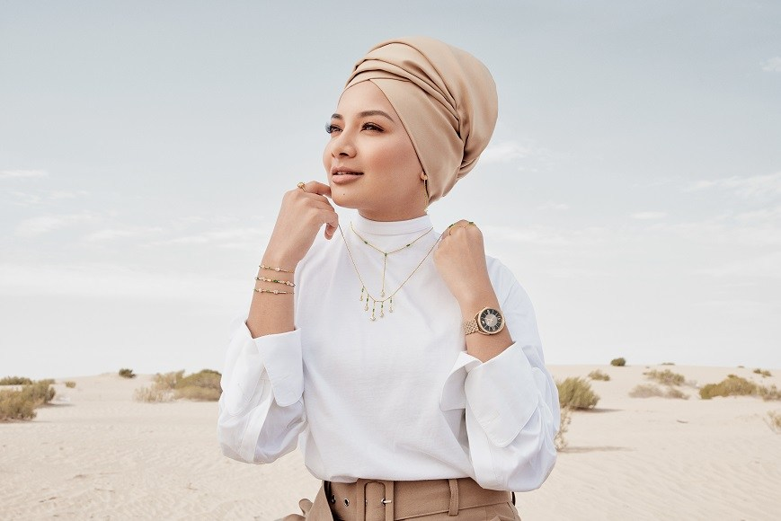 The campaign was shot in the Al Wadi Desert in Abu Dhabi. — Picture courtesy of Swarovski
