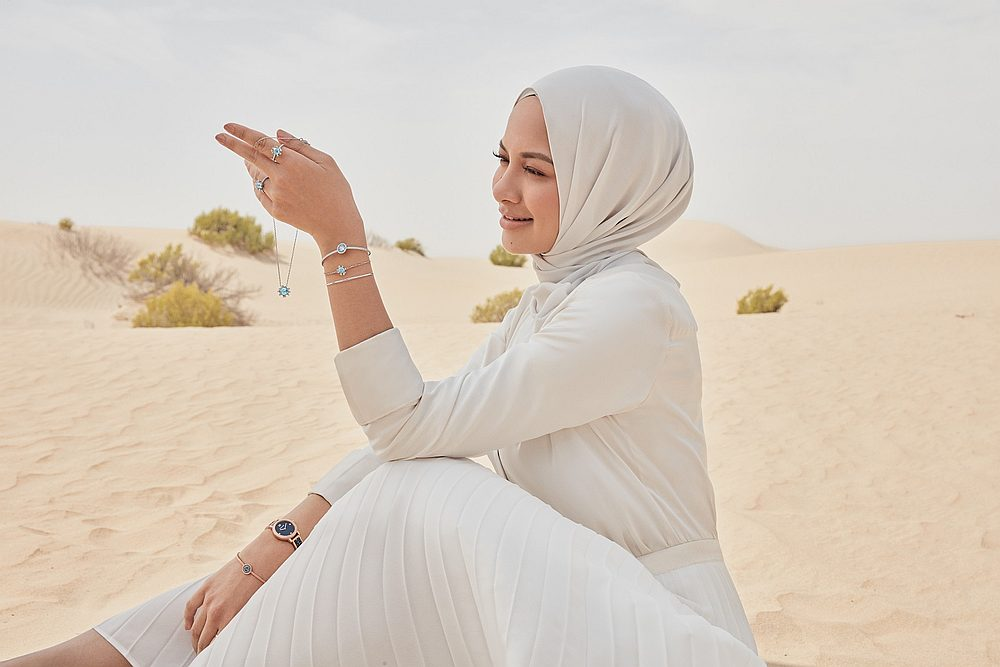 Neelofa says Syawal is the month for giving back to society. — Picture courtesy of Swarovski