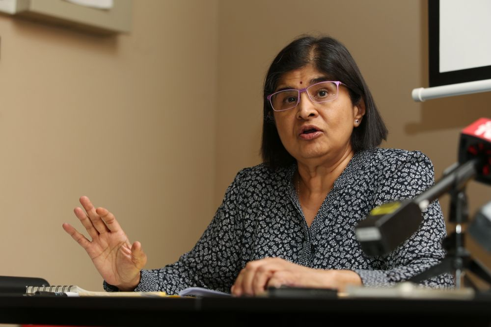 Datuk Ambiga Sreenevasan speaks during a press conference at the C4 Center, Petaling Jaya May 15, 2019. — Picture by Choo Choy May
