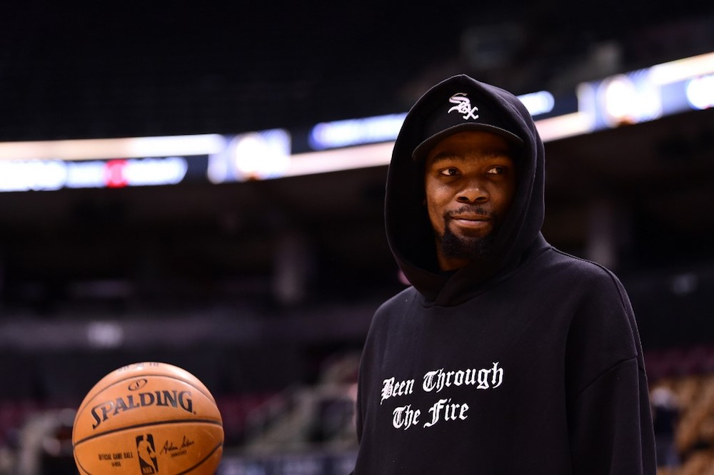 Durant signed with the Nets last summer but has been sidelined by an Achilles injury sustained during last season's NBA Finals when he was playing for the Golden State Warriors. — AFP pic