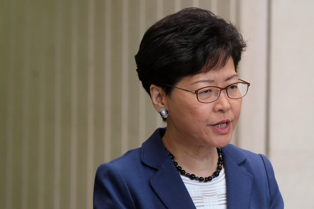 Hong Kong Chief Executive Carrie Lam attends a news conference in Hong Kong, China June 10, 2019. — Reuters pic