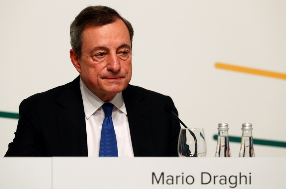 If M5S activists vote in favour of joining the pro-Draghi coalition, the central banker could end up having almost unanimous support in parliament. — Reuters pic