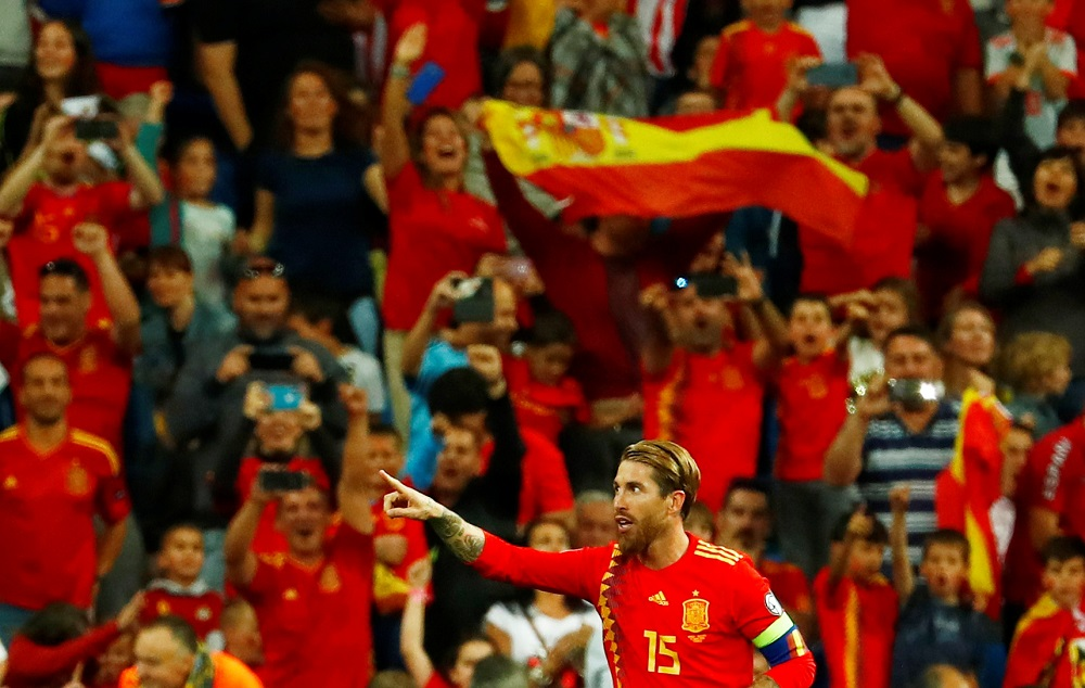 Spain coach Robert Moreno says Sergio Ramos wants to play until he is 40. — Reuters pic