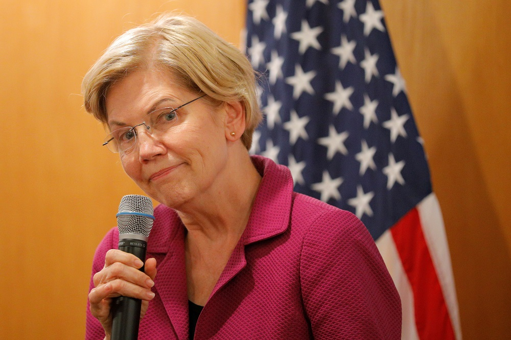 US senator Elizabeth Warren repeatedly emphasised the word 'choice' and focused on the transition plan she unveiled last month that would delay full implementation of the sweeping healthcare overhaul for three years. — Reuters pic