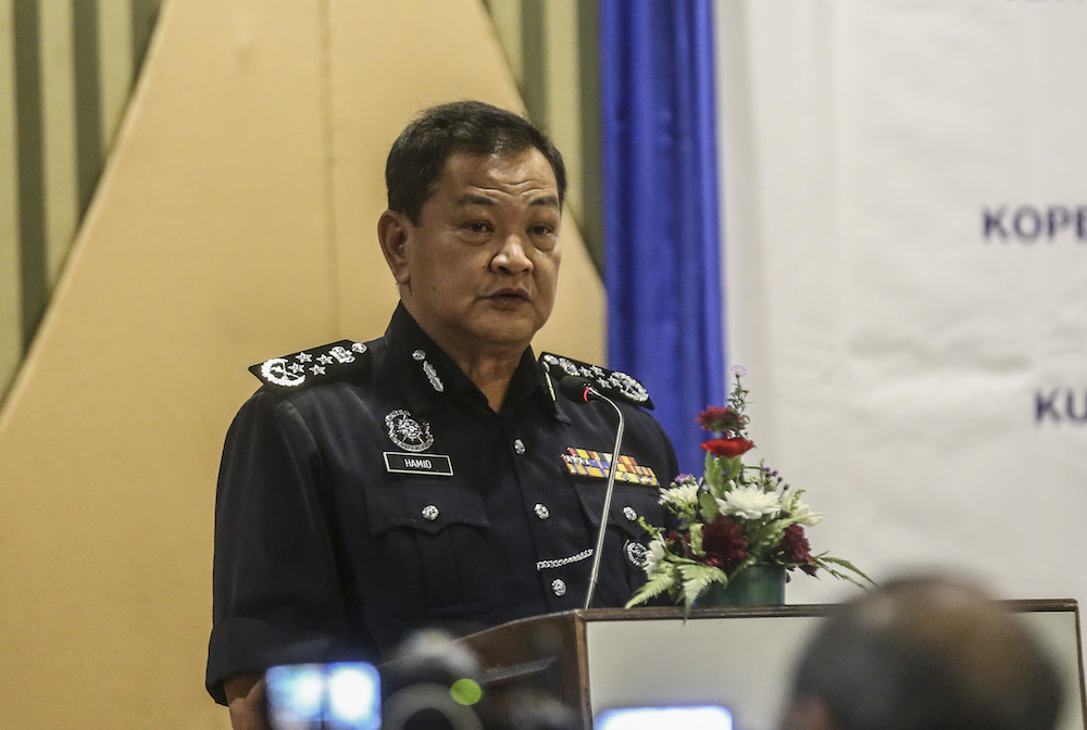Inspector-General of Police (IGP) Tan Sri Abdul Hamid Bador said the special platoon would be mobilised to conduct patrols, track down suspects as well as carry out joint raids with enforcement officials including the Wildlife Department and the Sabah Forestry Department. — Picture by Firdaus Latif