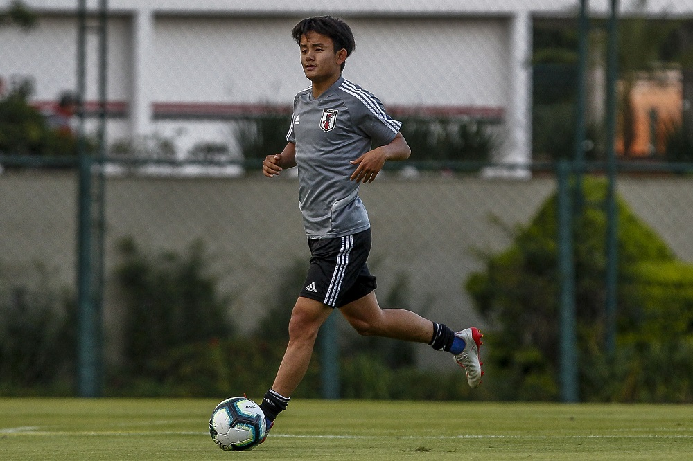 Japan's Takefusa Kubo spent last season on loan at relegated Real Mallorca and impressed, registering four goals and five assists in 35 La Liga appearances. — AFP pic