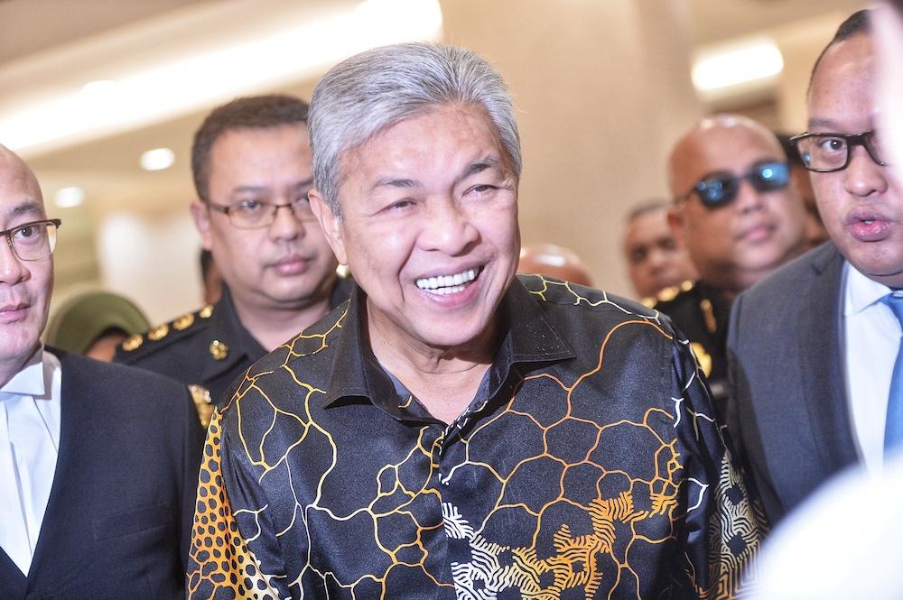 Datuk Seri Ahmad Zahid Hamidi arrives at the Kuala Lumpur High Court June 26, 2019. — Picture by Shafwan Zaidon
