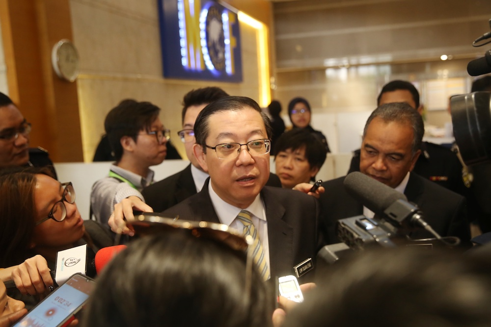 Finance Minister Lim Guan Eng speaks to the media after the 2020 Budget Consultation Council meeting at the Finance Ministry in Putrajaya June 27, 2019. — Picture by Choo Choy May