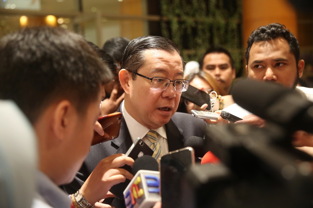 DAP secretary-general Lim Guan Eng said the party disagrees with any suggestions to ban Dong Zong. — Picture by Choo Choy May