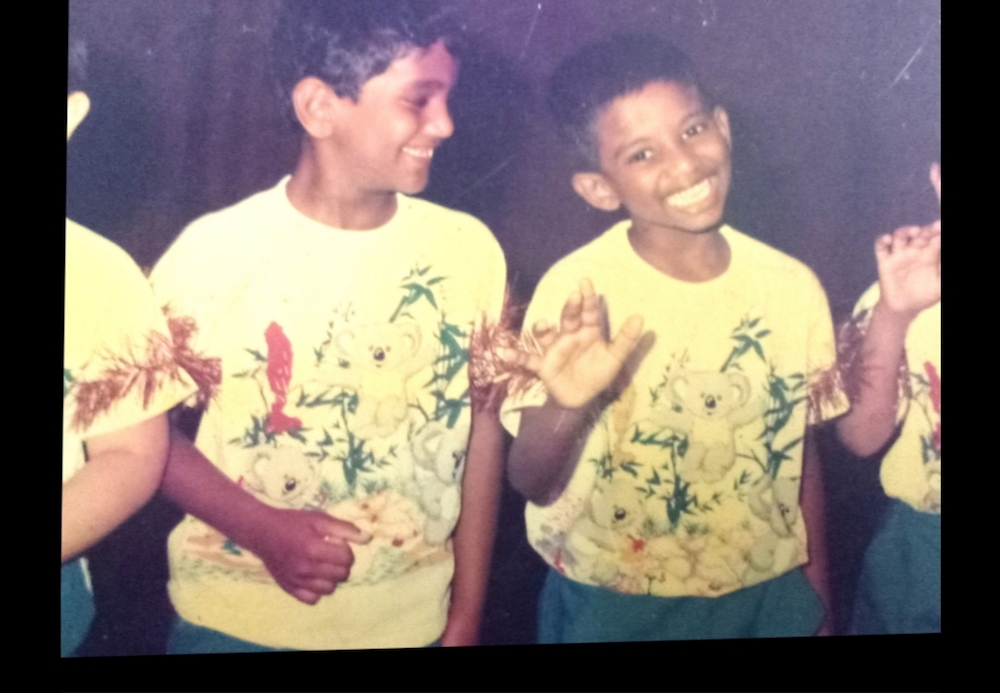 Pannir Selvam, the third of six children of an Ipoh family, is seen here at the age of six. — Picture courtesy of Pannir Selvam's family