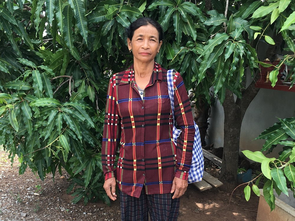 Hoy Mai, a plaintiff in a landmark class-action lawsuit against a Thai sugar firm that she says uprooted her family from their home and land in Oddar Meanchey province in Cambodia, is among a growing number of villagers taking companies to court in their home countries May 28, 2019. — Thomson Reuters Foundation pic