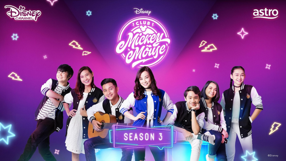 (From left) Pountney, Erissa, Wafiy, Ow, Faiz, Dheena and Ellya star in the third season of the iconic variety show. — Picture courtesy of Disney Channel