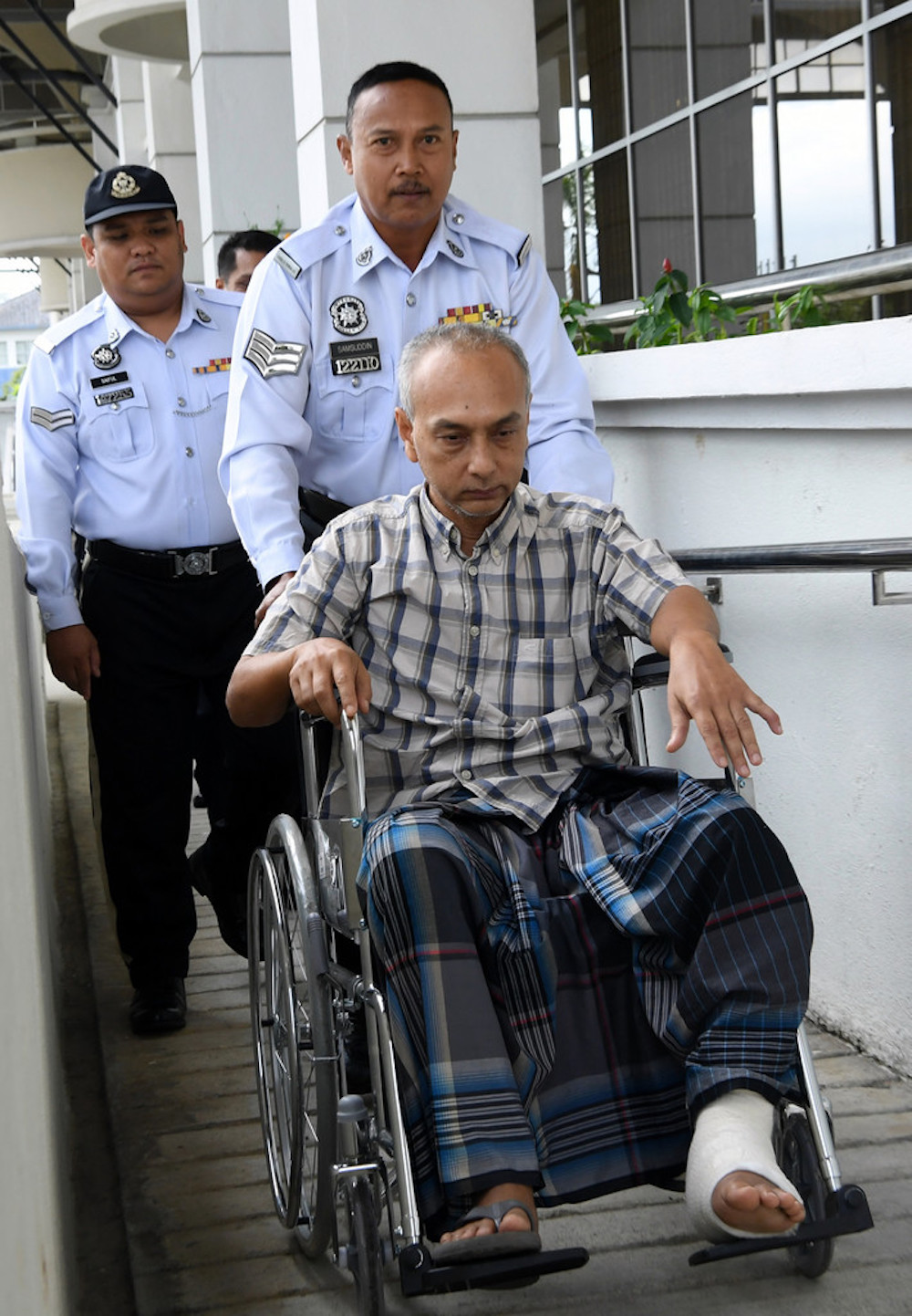 Othman Iberahim arrives at the Special Traffic Court in Seremban June 14, 2019. — Bernama pic