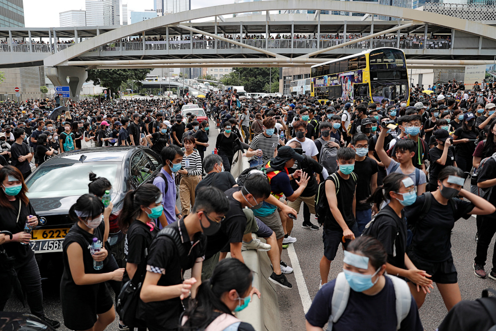 Anti-government protests in 2019 relied heavily on social media channels like Telegram which allowed protesters to organise anonymously. Many sites also sprung up in support of the protest movement, though a number shut after the passage of the security law. — Reuters pic