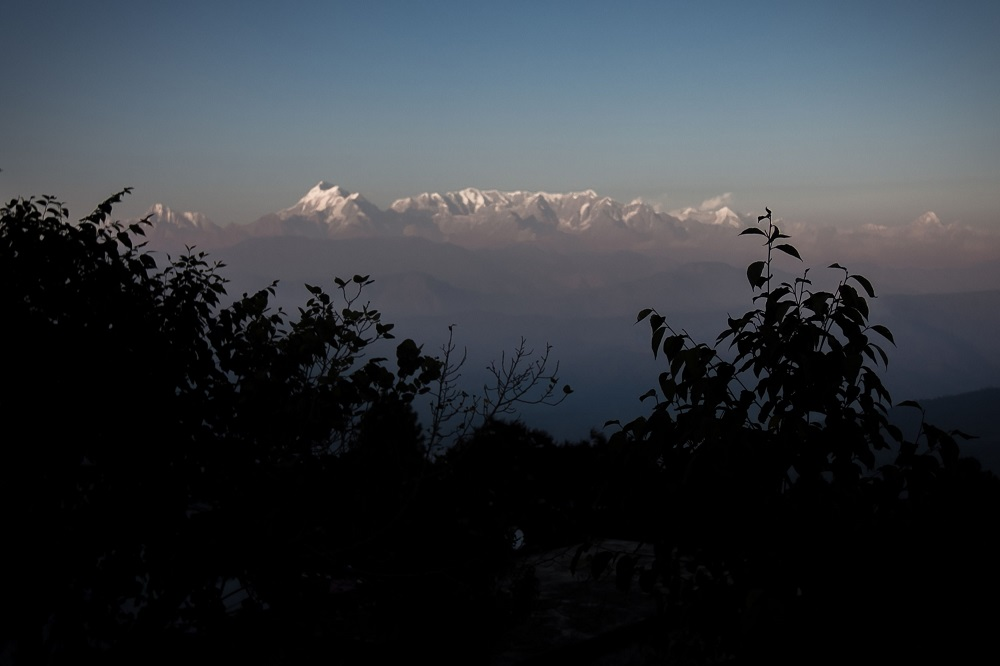 This file photo taken on November 13, 2015, shows a general view of the Himalayas from the hill-station of Kausani in the northern Indian state of Uttarakhand. — AFP pic