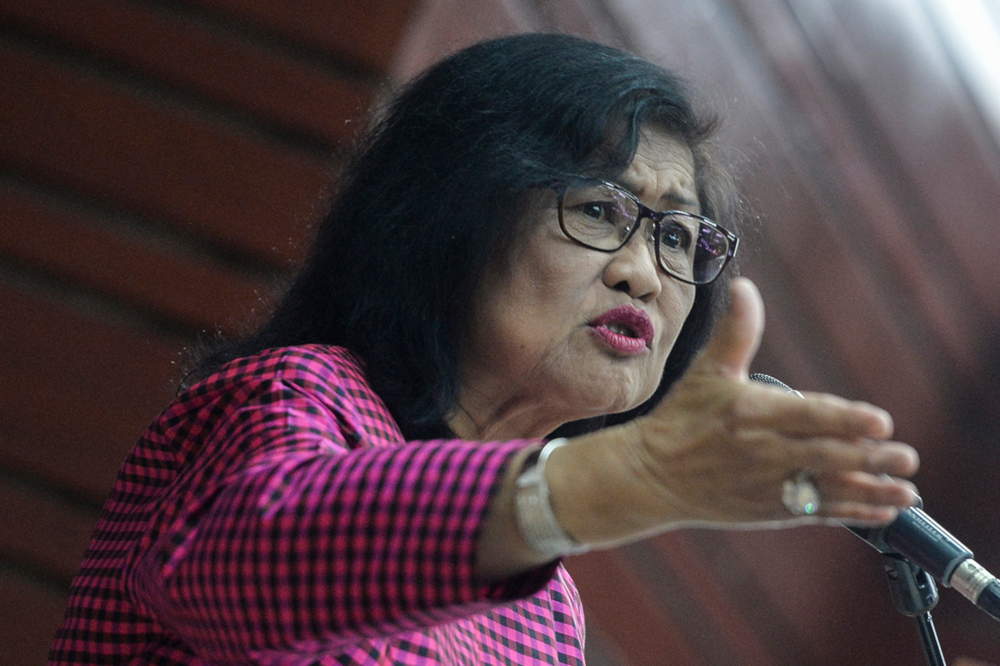 Rafidah warned of a looming recession and said the country should be preparing for this instead. — Picture by Miera Zulyana