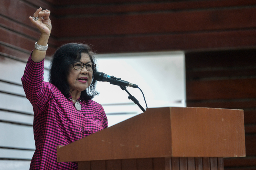 Tan Sri Rafidah Aziz has reportedly said it is time for the country to move away from politics focusing on race, religion and gender. — Picture by Miera Zulyana