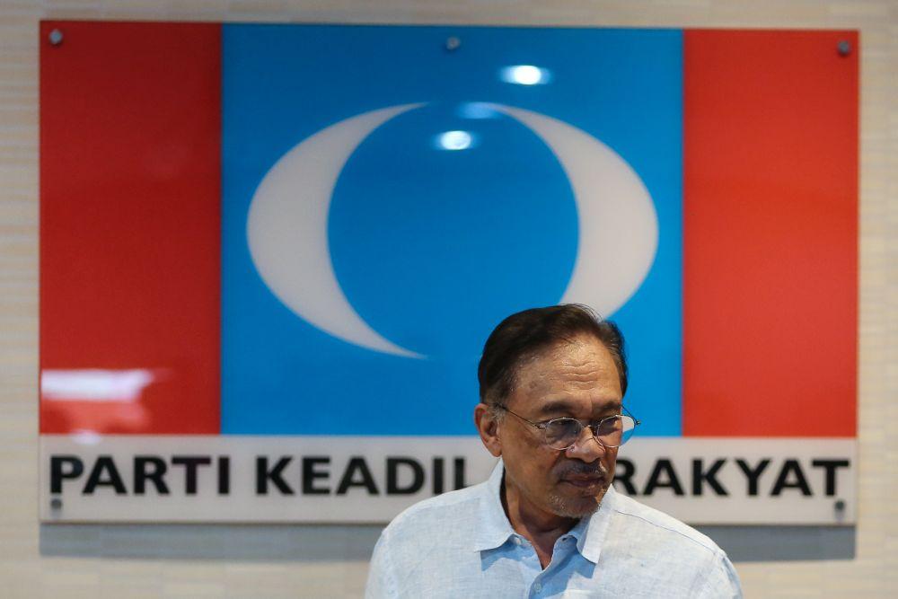 Datuk Seri Anwar Ibrahim is pictured at PKR's headquarters in Petaling Jaya June 19, 2019. — Picture by Yusof Mat Isa