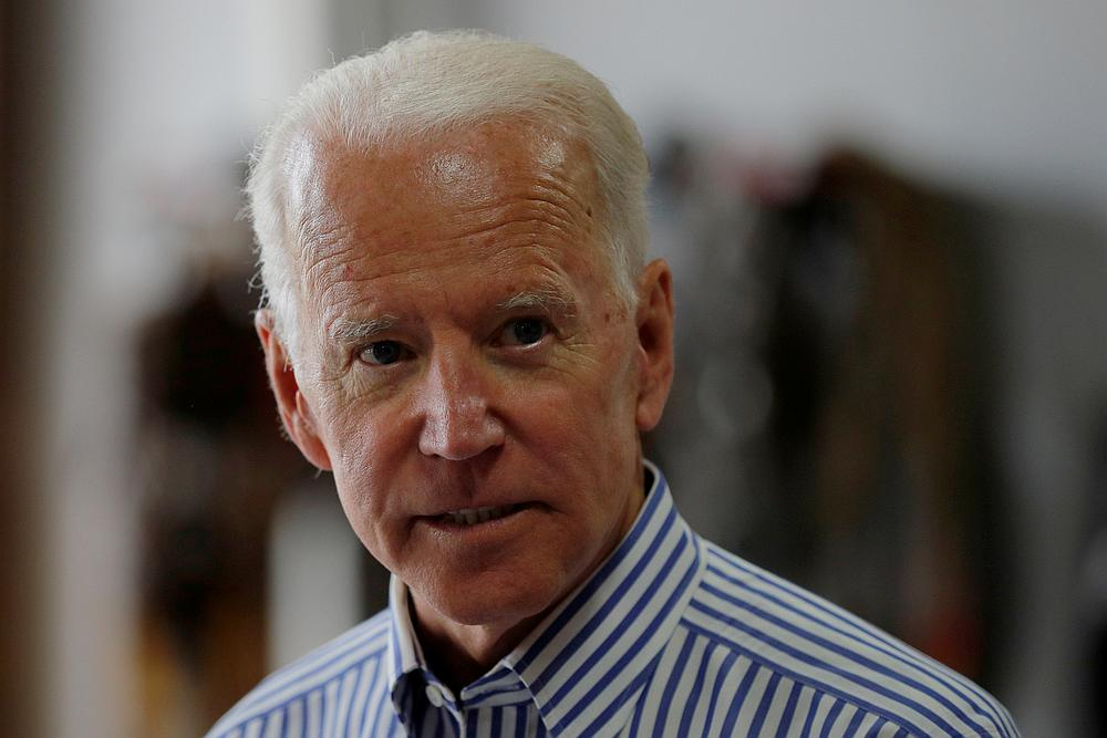 Democratic 2020 US presidential candidate and former Vice President Joe Biden tours the Plymouth Area Renewable Energy Initiative in Plymouth, New Hampshire June 4, 2019. — Reuters pic