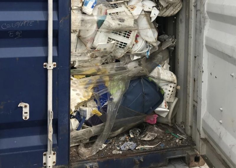 A total of 265 containers filled with plastic waste have been left abandoned at the North Butterworth Container Terminal in George Town since January. — Picture courtesy of Phee Boon Poh